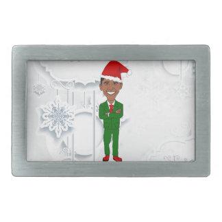 barack obama santa rectangular belt buckle