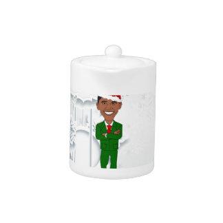 barack obama santa teapot