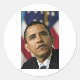 barack-obama-shepard-fairey-original-photo classic round sticker