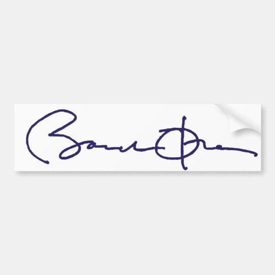Barack Obama Signature Bumper Sticker