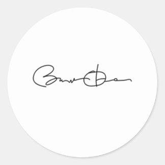 Barack Obama Signature Series (Black) Classic Round Sticker