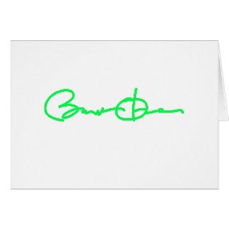 Barack Obama Signature Series (Green) Card