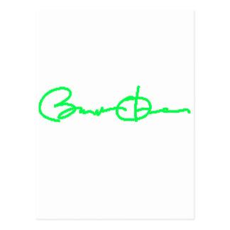 Barack Obama Signature Series (Green) Postcard