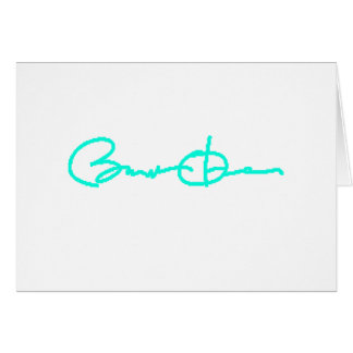 Barack Obama Signature Series (Light Blue) Card