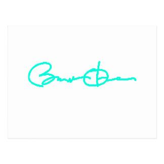 Barack Obama Signature Series (Light Blue) Postcard
