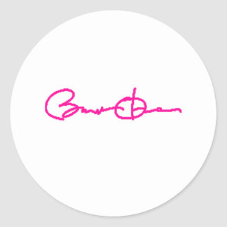 Barack Obama Signature Series (Pink) Classic Round Sticker