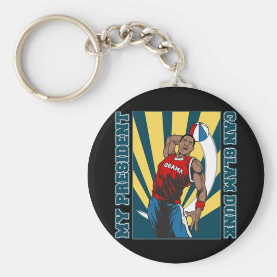 Barack Obama Slam Dunk Keychain