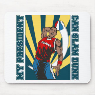 Barack Obama Slam Dunk Mouse Mats