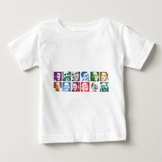 Barack Obama Smiles Baby T-Shirt