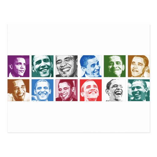 Barack Obama Smiles Postcard