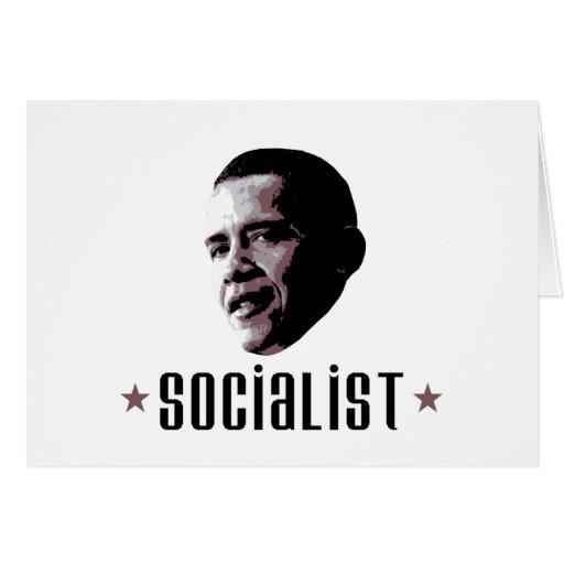 Barack Obama Socialist Cards