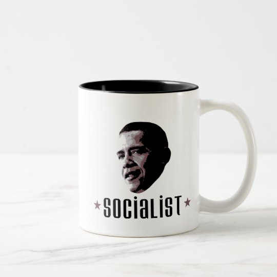 Barack Obama Socialist Two-Tone Coffee Mug