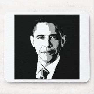 BARACK OBAMA SQUARE FACE PORTRAIT -.png Mouse Pad