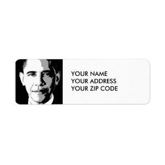 BARACK OBAMA SQUARE PORTRAIT -.png Return Address Label