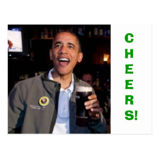 Barack Obama - St. Patrick's Day Toast Postcard