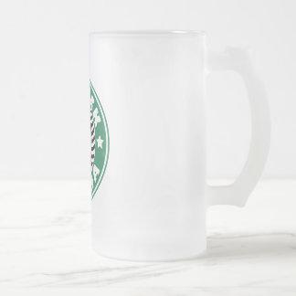 Barack Obama Star Caffeine Frosted Glass Beer Mug