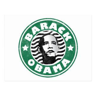 Barack Obama Star Caffeine Postcard