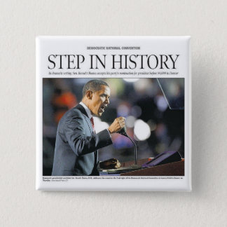 Barack Obama: Step in History Button