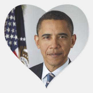 Barack Obama Heart Sticker