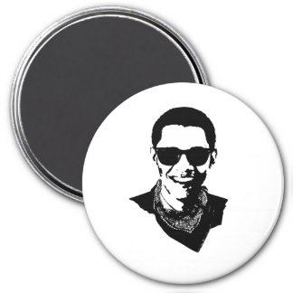 Barack Obama Sunglasses and Bandana 3 Inch Round Magnet