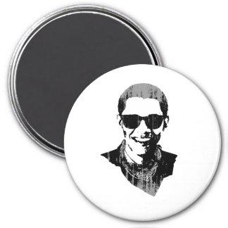 Barack Obama Sunglasses and Bandana Vintage.png 3 Inch Round Magnet