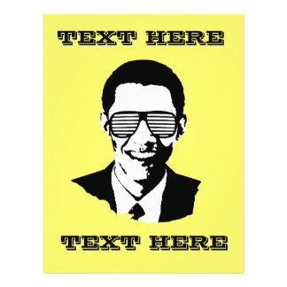 Barack Obama Sunglasses Stripes Custom Flyer