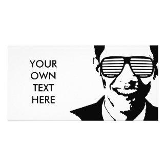 Barack Obama Sunglasses Stripes Photo Card