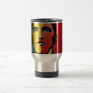 Barack Obama Super Hero Travel Mug