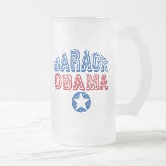 Barack Obama Super Star Presidential Tees Gifts Frosted Glass Beer Mug