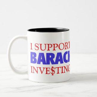 BARACK OBAMA  SUPPORT Two-Tone COFFEE MUG