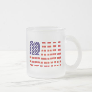 Barack Obama Support USA Flag Tees Gifts Frosted Glass Coffee Mug