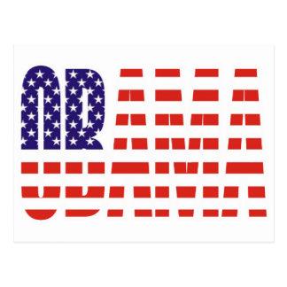 Barack Obama Support USA Flag Tees Gifts Postcard