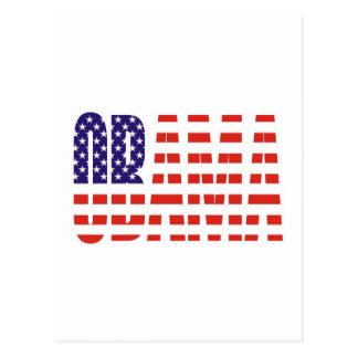 Barack Obama Support USA Flag Tees Gifts Postcard
