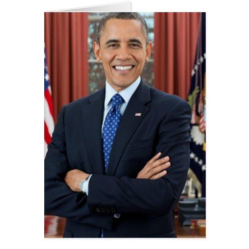 Barack Obama Tarjeta De Felicitación