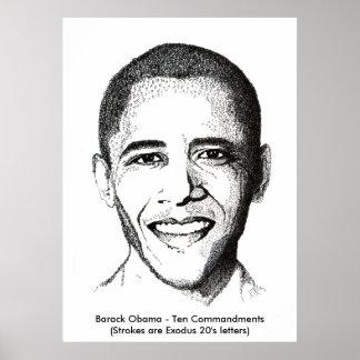 Barack Obama - Ten Commandments Poster