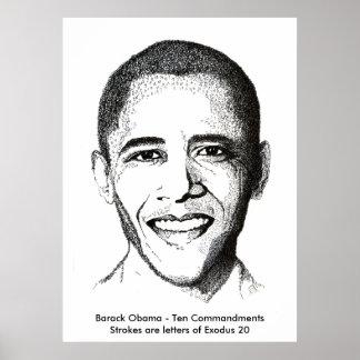 Barack Obama- Ten Commandments Poster