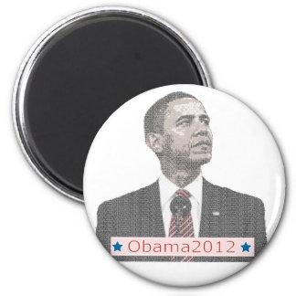 Barack Obama Text Portrait 2012 Magnet