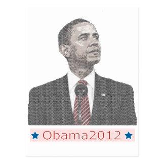 Barack Obama Text Portrait 2012 Postcard
