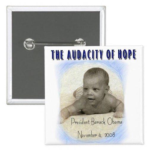 BARACK OBAMA THE AUDACITY OF HOPE PINBACK BUTTON