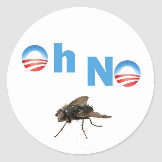 Barack Obama the Fly Killer Classic Round Sticker