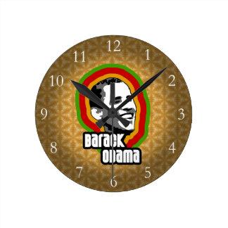 Barack Obama Throwback Round Clock