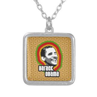 Barack Obama Throwback Square Pendant Necklace
