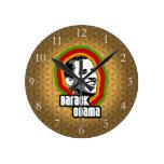 Barack Obama Throwback Wall Clock