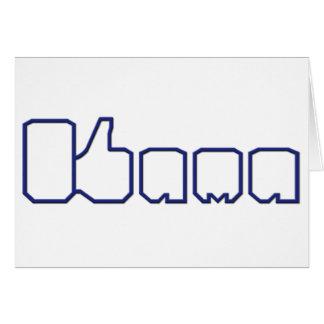 Barack Obama Thumbs Up Like Greeting Card