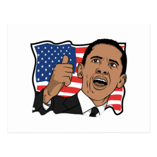 Barack Obama Thumbs Up Postcard