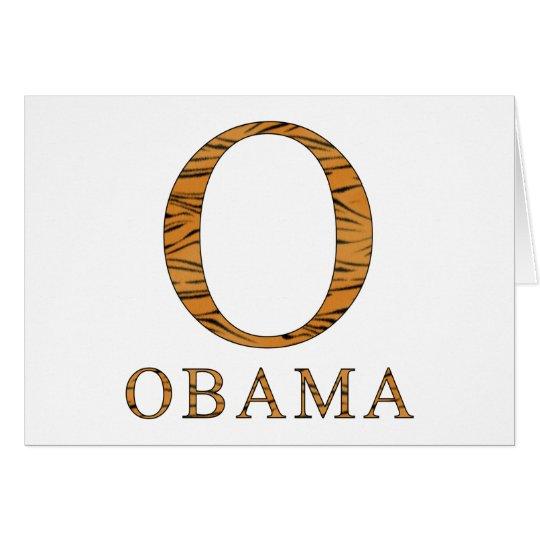 Barack Obama Tiger Stripes Card