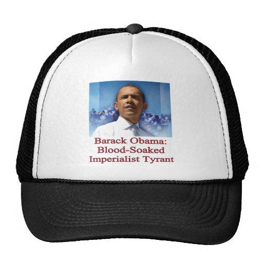 Barack Obama: Tirano imperialista ensangrentado Gorros Bordados