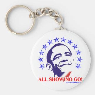 Barack Obama toda la demostración ninguna va Llavero Redondo Tipo Pin