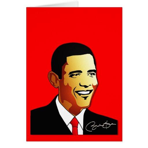 Barack Obama Vector Illustration Greeting Card