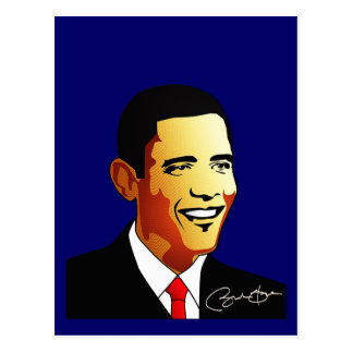 Barack Obama Vector Illustration Postcard